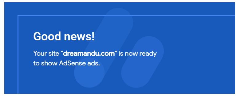 Adsense approval email