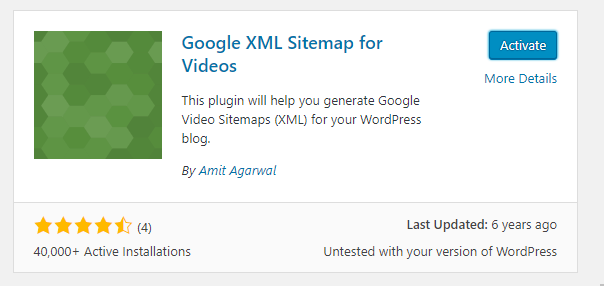 Google XML sitemap for videos plugin