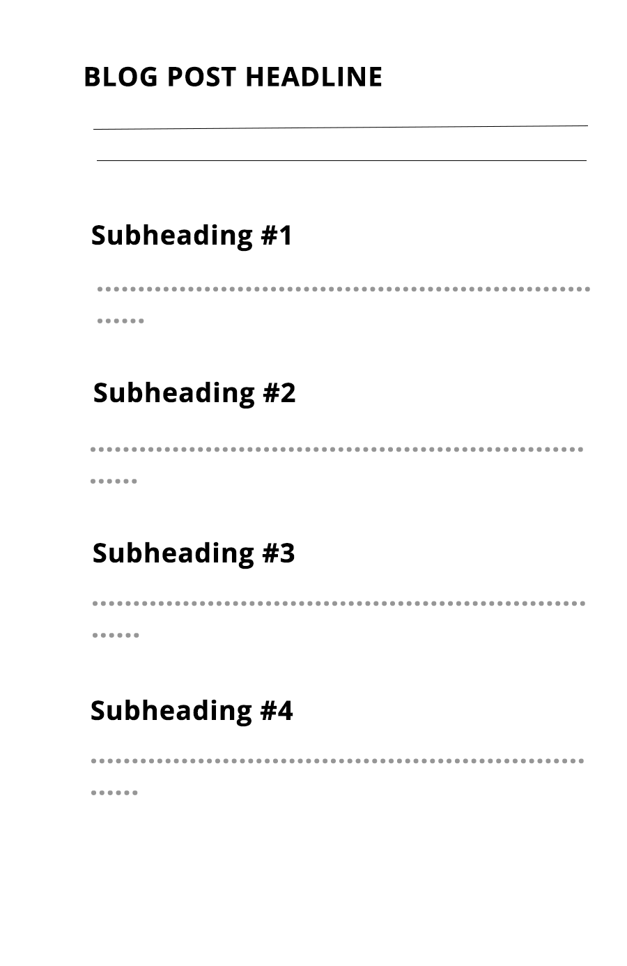 break your article into subheadings