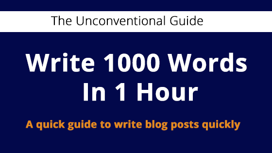 write 1000 words in 1 hour