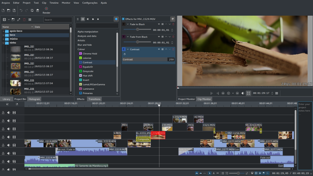 Kdenlive free video editor