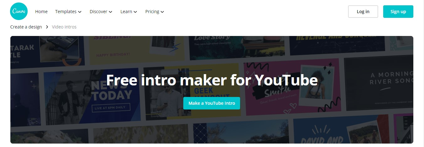 canva free intro maker for youtube